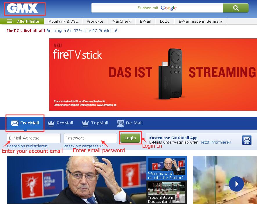Lotto Gmx gmx email box login flowchart